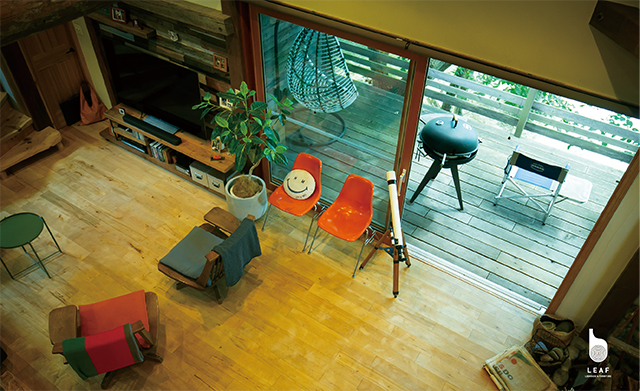 Living room & Wood deck